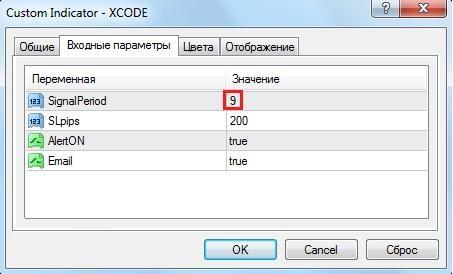Рис. 3. Предварительная настройка Fоrеx Х Code
